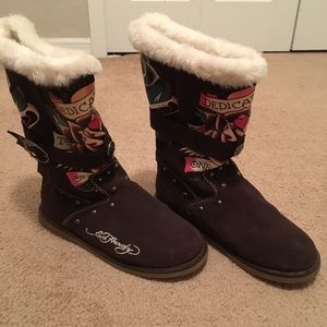 Ed Hardy winter boots